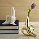 Jonathan Adler Banana Bud Vase Gold