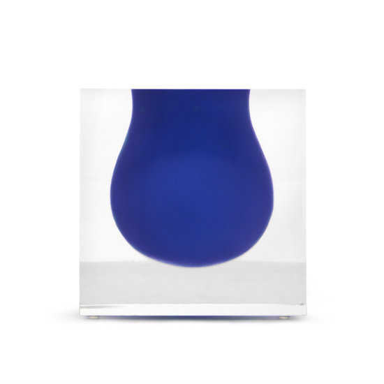 Jonathan Adler Bel Air Mini Scoop Vase Cobalt
