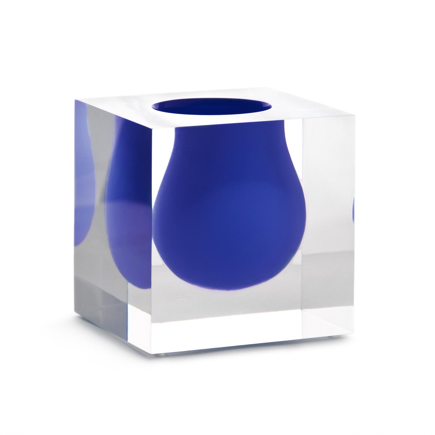 Jonathan Adler Bel Air Mini Scoop Vase Cobalt