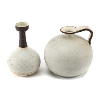 Bruno Gambone Ceramic Vase & Water Vessel by Bruno Gambone