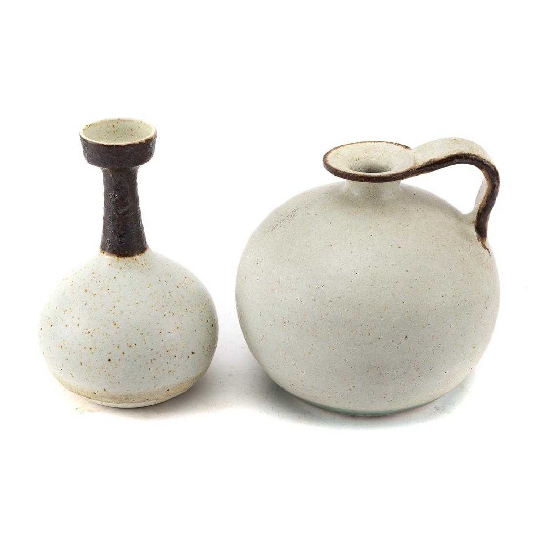 Bruno Gambone Ceramic Vase & Water Vessel by Bruno Gambone