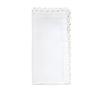 Kim Seybert Loop Edge Napkin | White