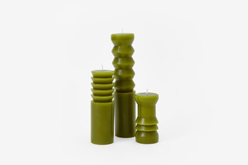Areaware Large Totem Candle in Moss