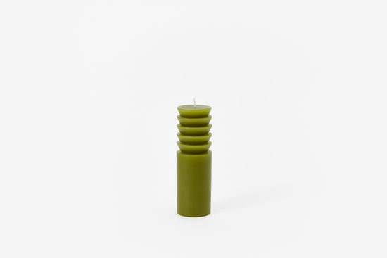 Areaware Medium Totem Candle in Moss