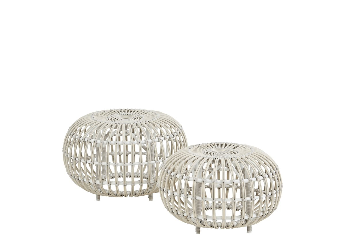 Sika Design Franco Albini Ottoman in Large White