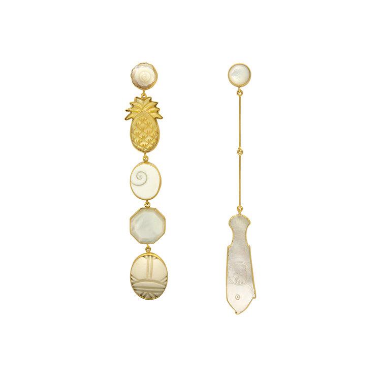 Grainne Morton Large Pearl Mismatched Drops