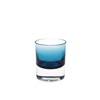 Nouvel Studio Rocks Facet Glass in Steel Blue | Set of 4