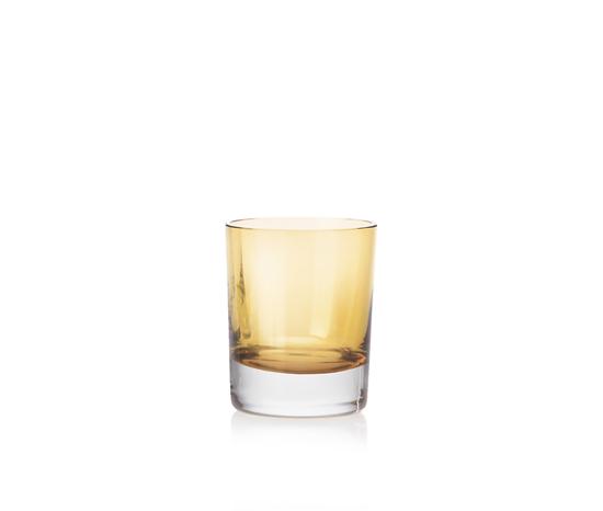 Nouvel Studio Rocks Facet Glass in Amber Yellow | Set of 4