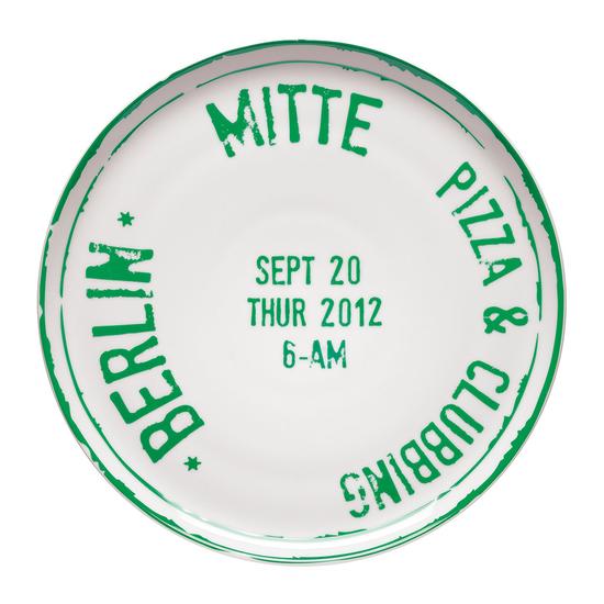 Bitossi Pizza Plate   Berlin