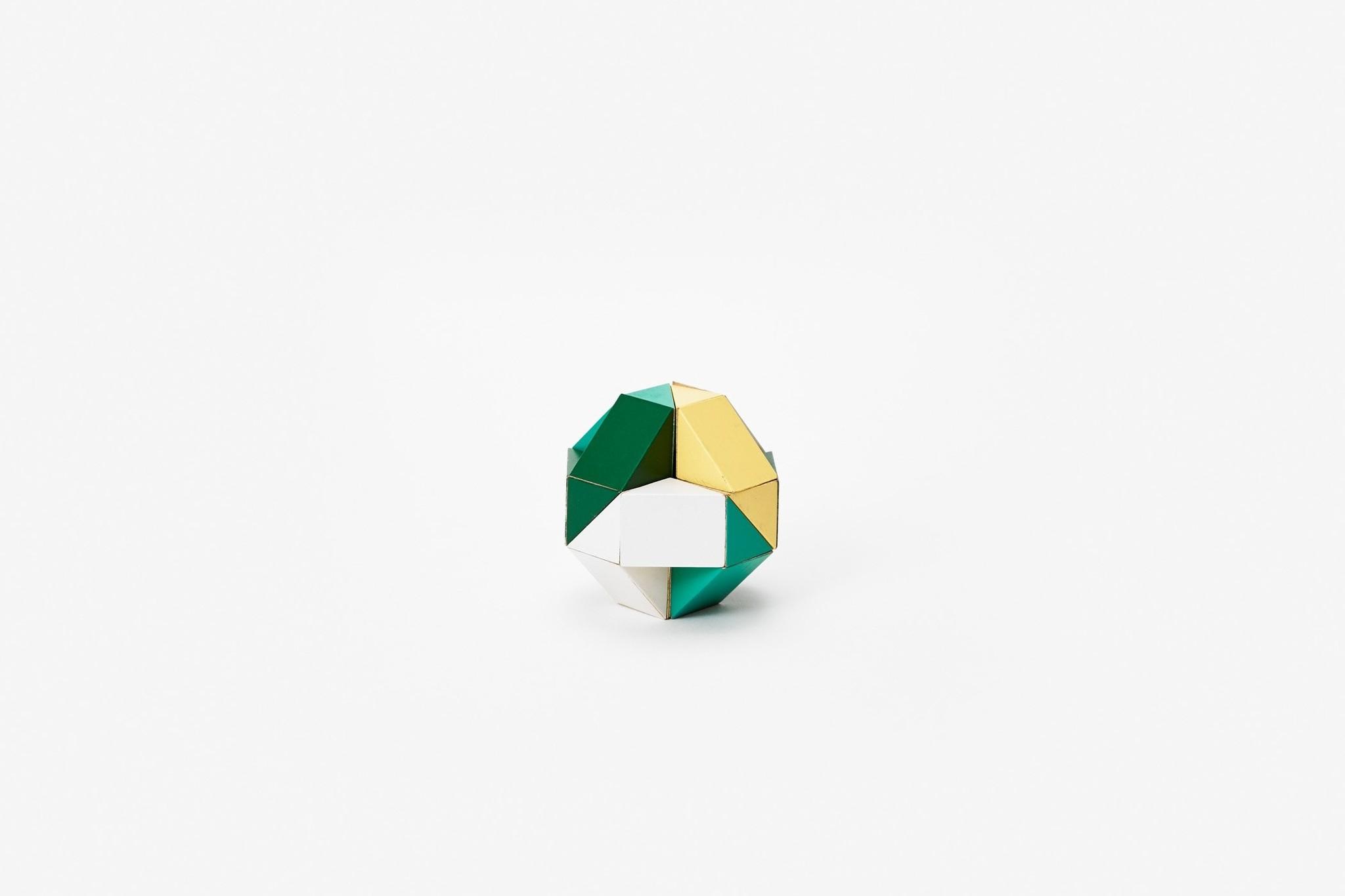 Areaware Snake Block Medium Yellow/Green