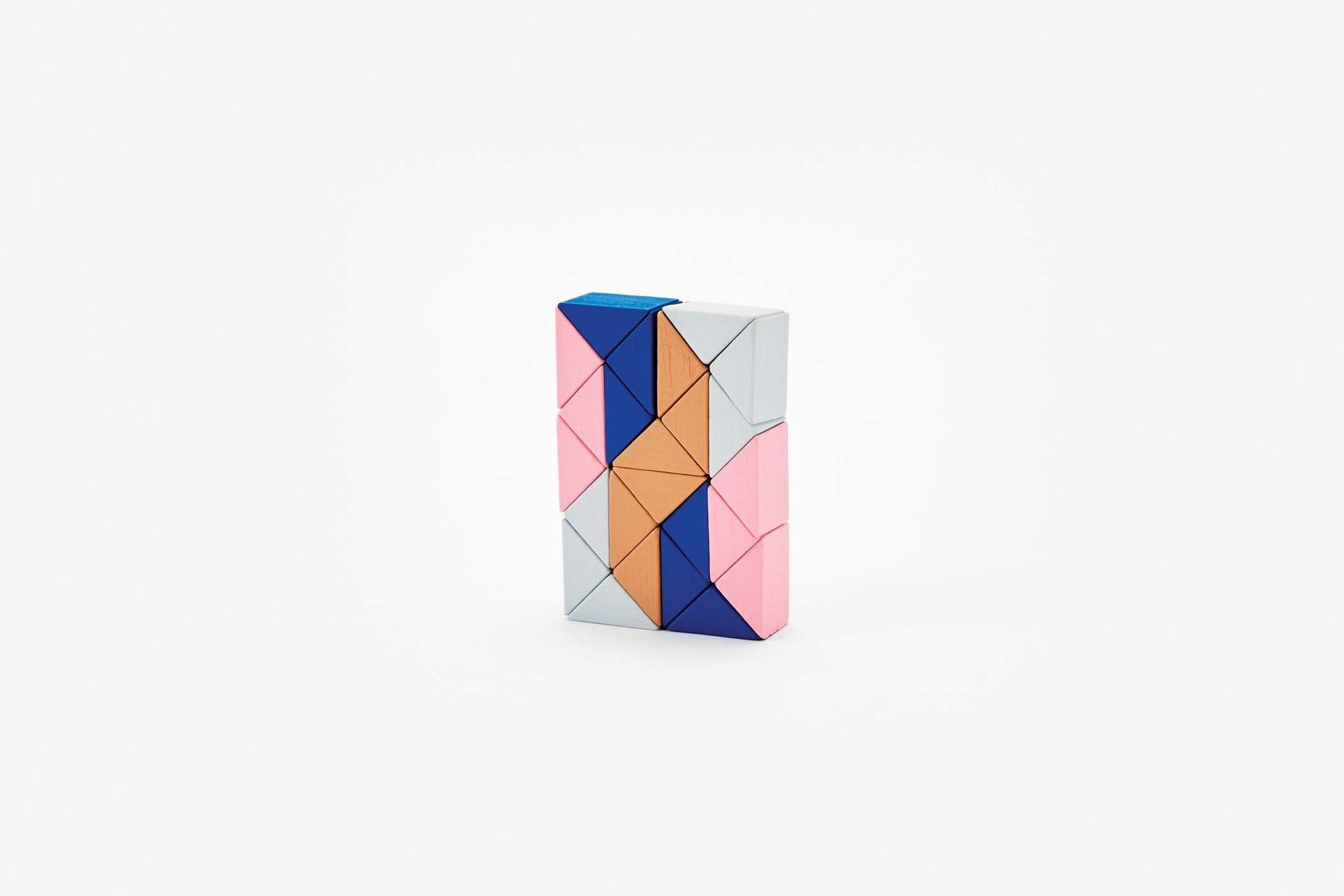 Areaware Snake Block Small in Pink & Beige