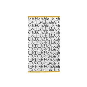 Donna Wilson Blah Blah Bath Towel - Black/White