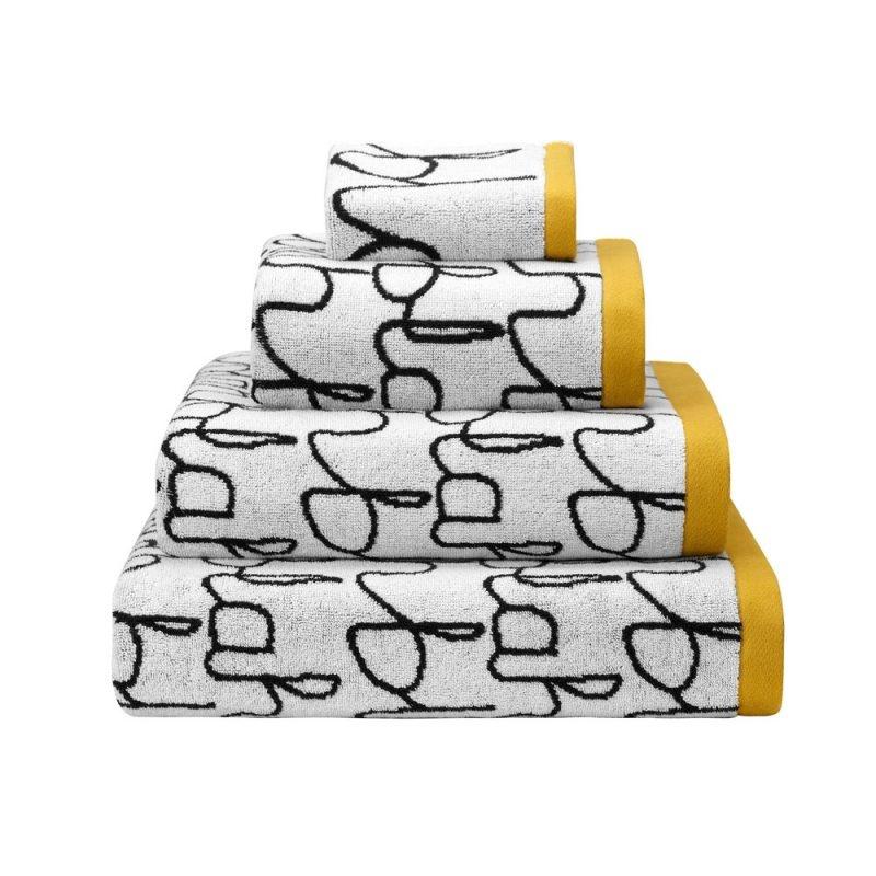 Donna Wilson Blah Blah Bath Towel - Black/White
