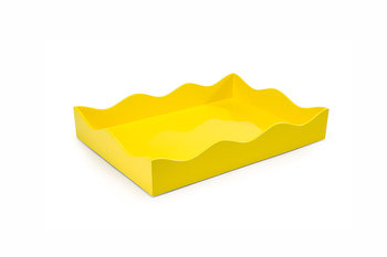 The Lacquer Company Small Belles Rives Tray - Citron Yellow