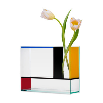 Aesthetic Movement Mondri Vase - Red Blue Yellow