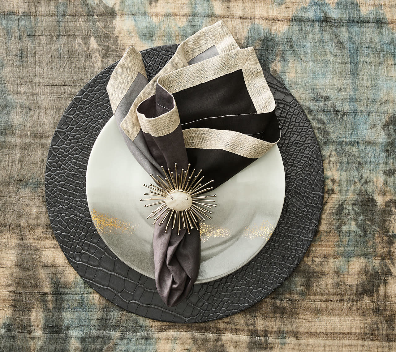 Kim Seybert Napkin Ring - Flare (Silver)