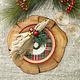 Kim Seybert Napkin Ring - Christmas Sprig