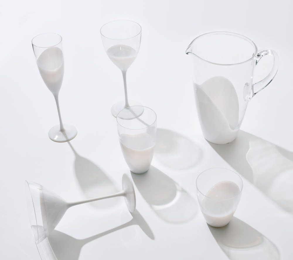 Kim Seybert Vague Martini Glass - White