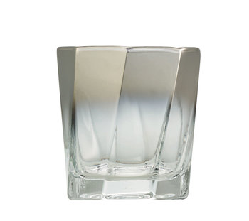 Kim Seybert Helix Old Fashioned Glass - Silver
