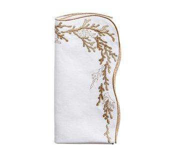 Kim Seybert Reef Napkin - White/Beige