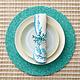Kim Seybert Reef Napkin - White/Turquoise