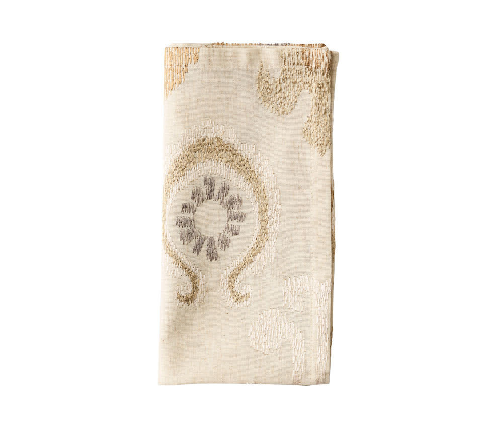 Kim Seybert Marrakech Napkin - Natural/Ivory/Gold