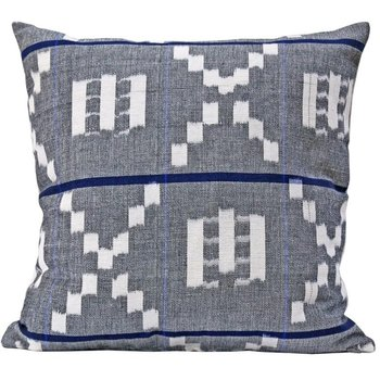 The Grand Tour Kufri Takamaka Pillow -  Grey & Blue