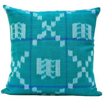 The Grand Tour Kufri Takamaka Pillow -  Teal & Blue