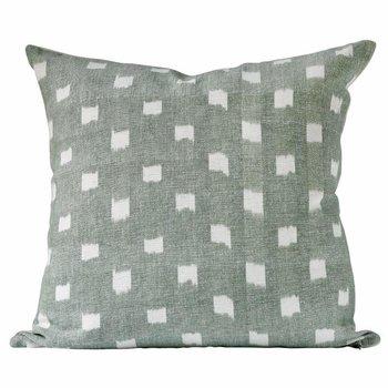 The Grand Tour 20 x 20 Pillow: Kufri Rex in Jade Fabric