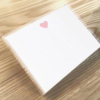 Huckleberry Letterpress Pink Heart Set of 12
