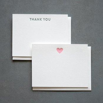 Huckleberry Letterpress Thank You San Serif Set of 12