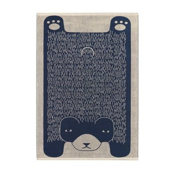 Donna Wilson Bear Sheet Towel - Blue
