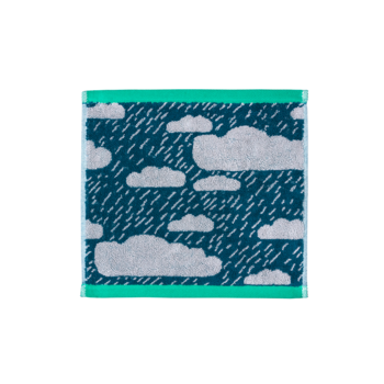 Donna Wilson Donna Wilson Rainy Day Face Towel - Green