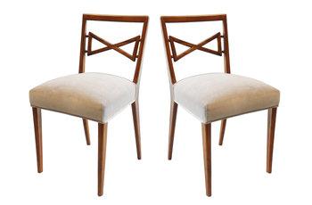 Pietro Lingeri Pietro Lingeri Italian Mahogany Dining Chairs
