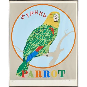 "Robert Indiana Robert Indiana Framed ""Parrot"" Screen Print"