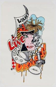 """John Matos John Matos """"Live Crash"""" Color Lithograph"""