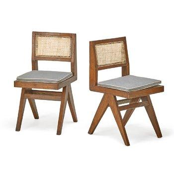 Pierre Jeanneret Pair of Pierre Jeanneret Side Chairs