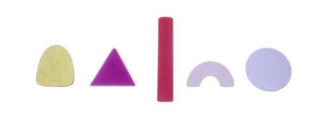 Sibilia Earrings: Geometric & Organic Post Set