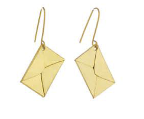 Sibilia Earrings: Letters from Abroad / Gold