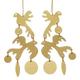 Sibilia Earrings: Two Little Birds / Gold