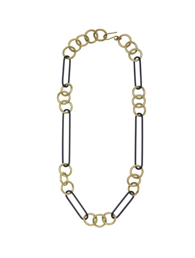 Sibilia Necklace: Sibilia in Chains SM Noir