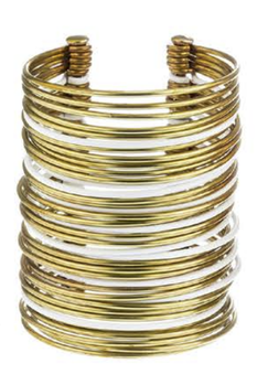 Sibilia Bracelet - Icon Cuff Gold / White / Large