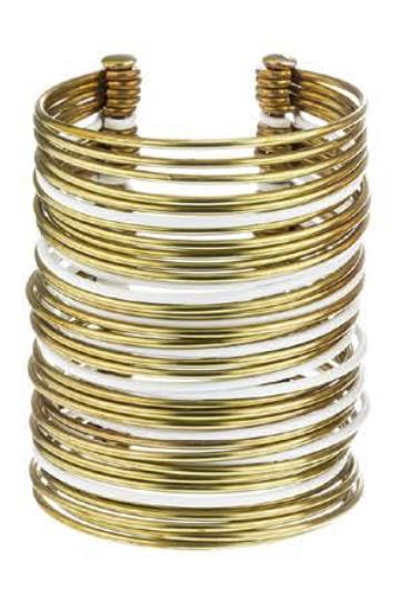 Sibilia Bracelet - Icon Cuff Gold / White / Large