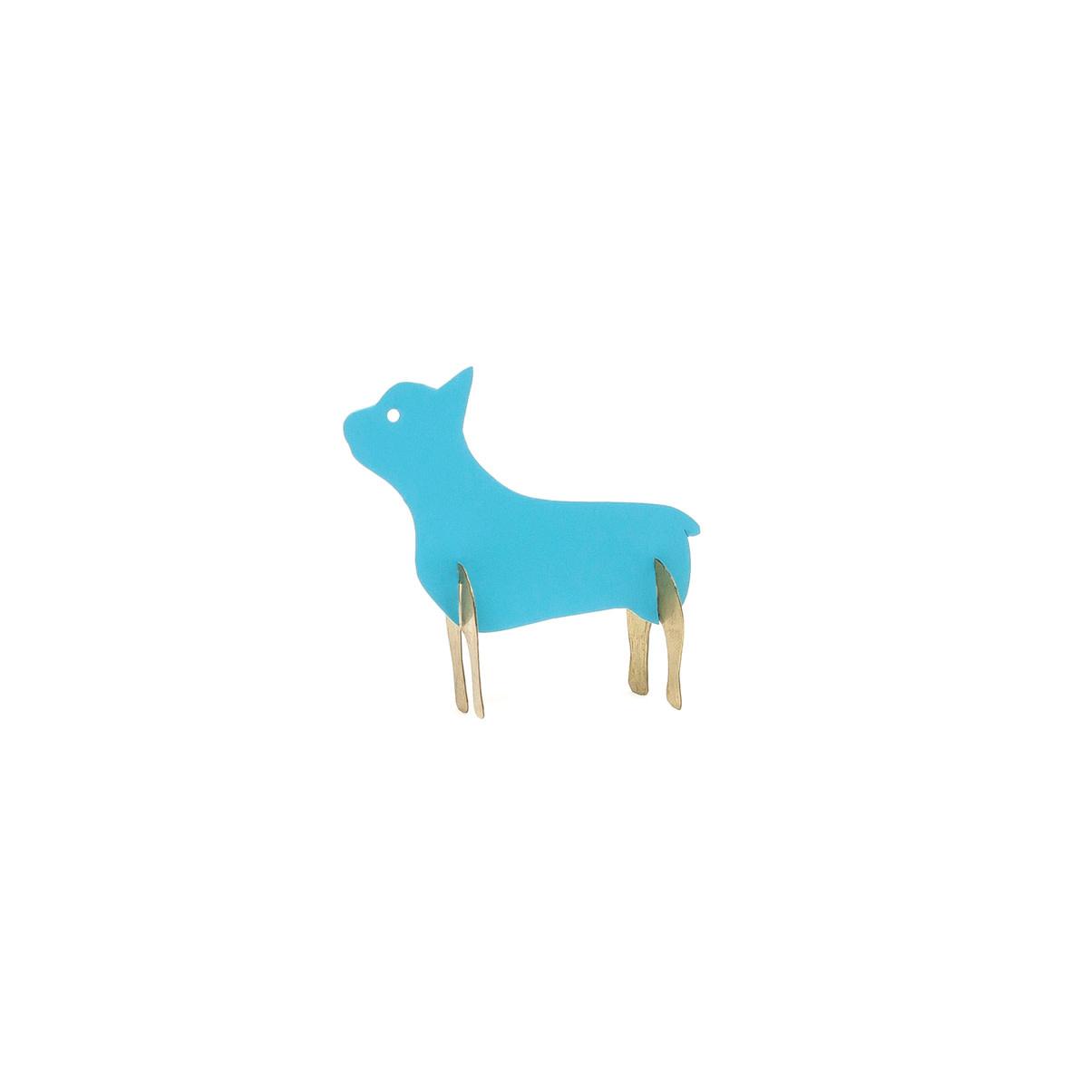 Sibilia Hand Painted Brass Pug Sculpture