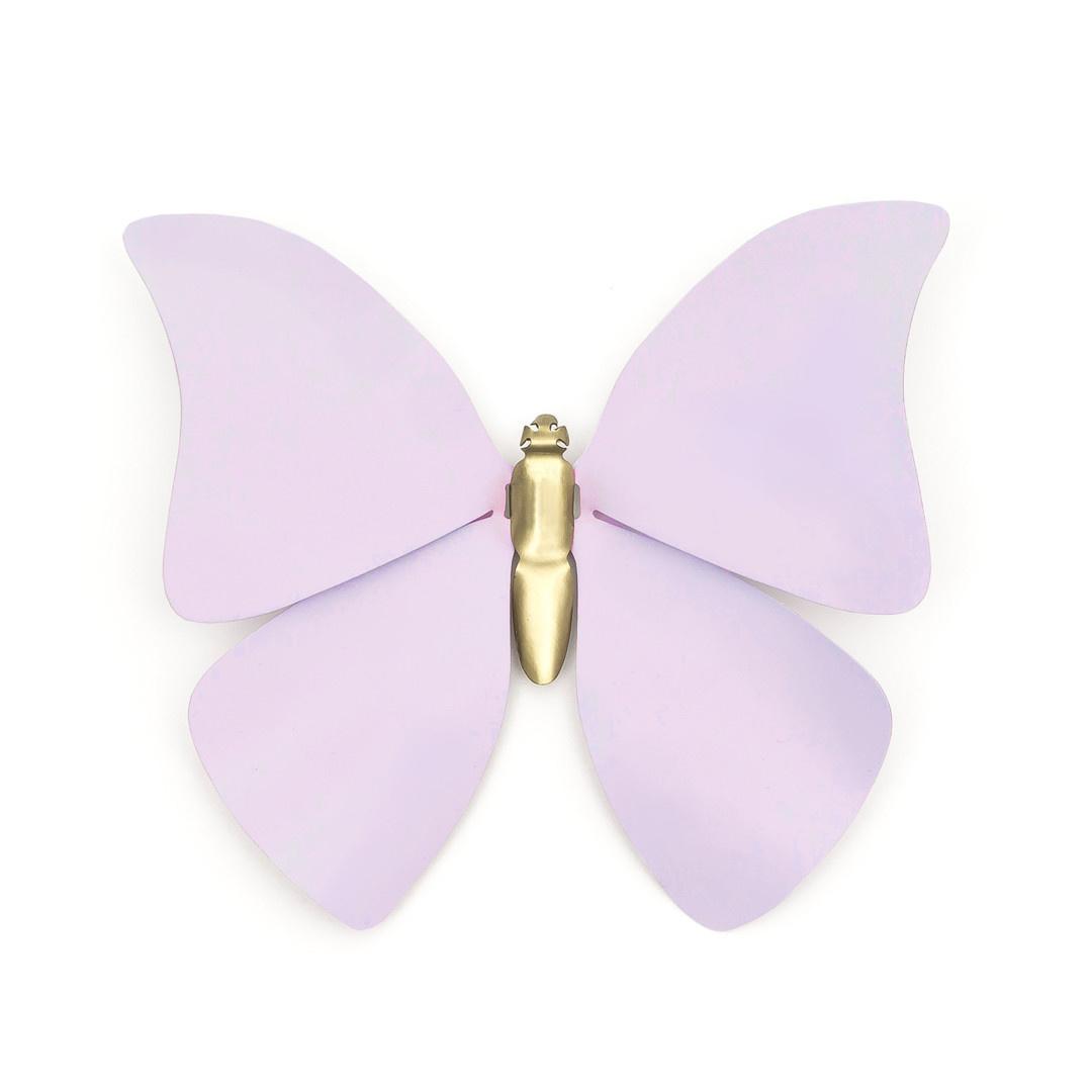 Sibilia Handicraft Brass Bug: Farfale Butterfly Lg Lavendar