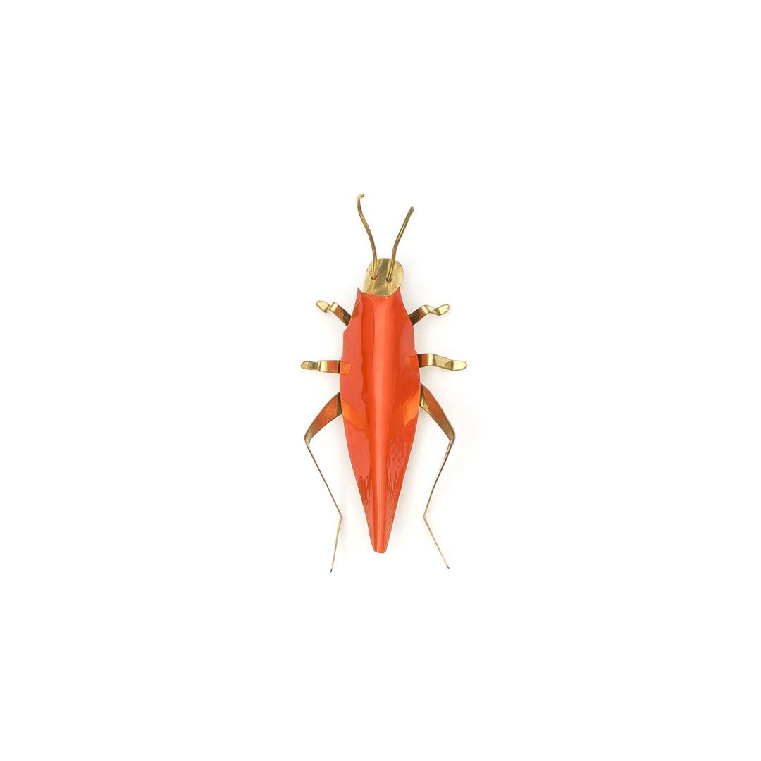 Sibilia Handicraft Brass Bug: Cricket SM Papaya