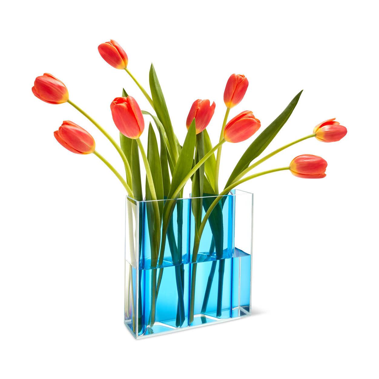 MOMA Corrugated Vase Blue