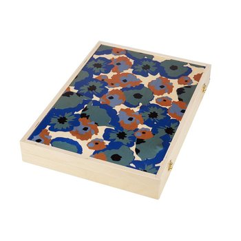 Wolfum Studio Poppy Teal Tabletop Backgammon Set