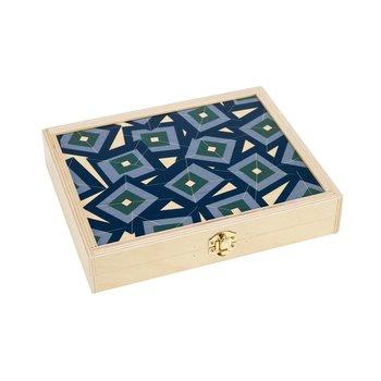 Wolfum Studio Alma Teal Travel Backgammon Set