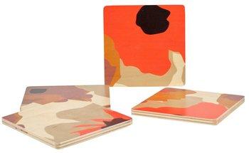 Wolfum Studio Poppy Square Coasters
